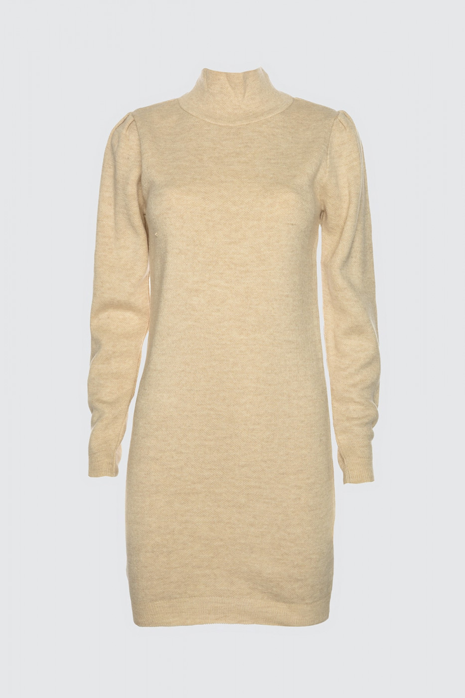 Trendyol Ekru Flat Color Sleeve Detailed Knitwear Dress