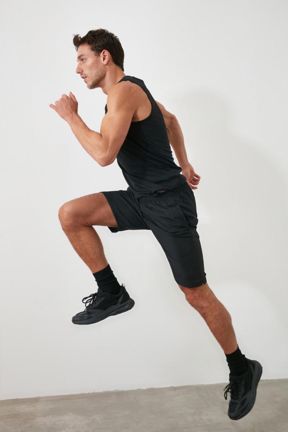 Trendyol Black Men's Sports Shorts & Bermuda