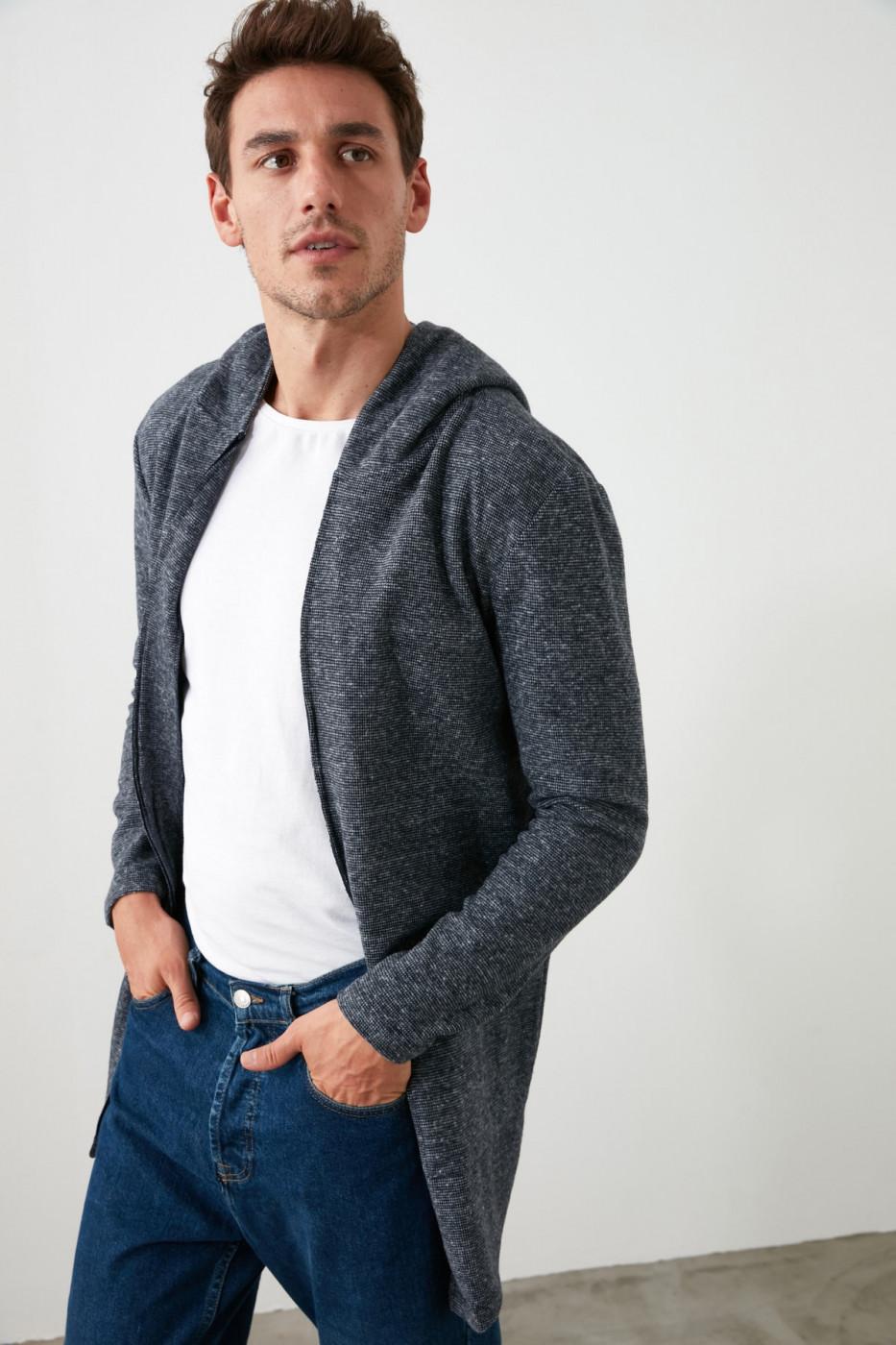 Trendyol Anthracite Male Cardigan