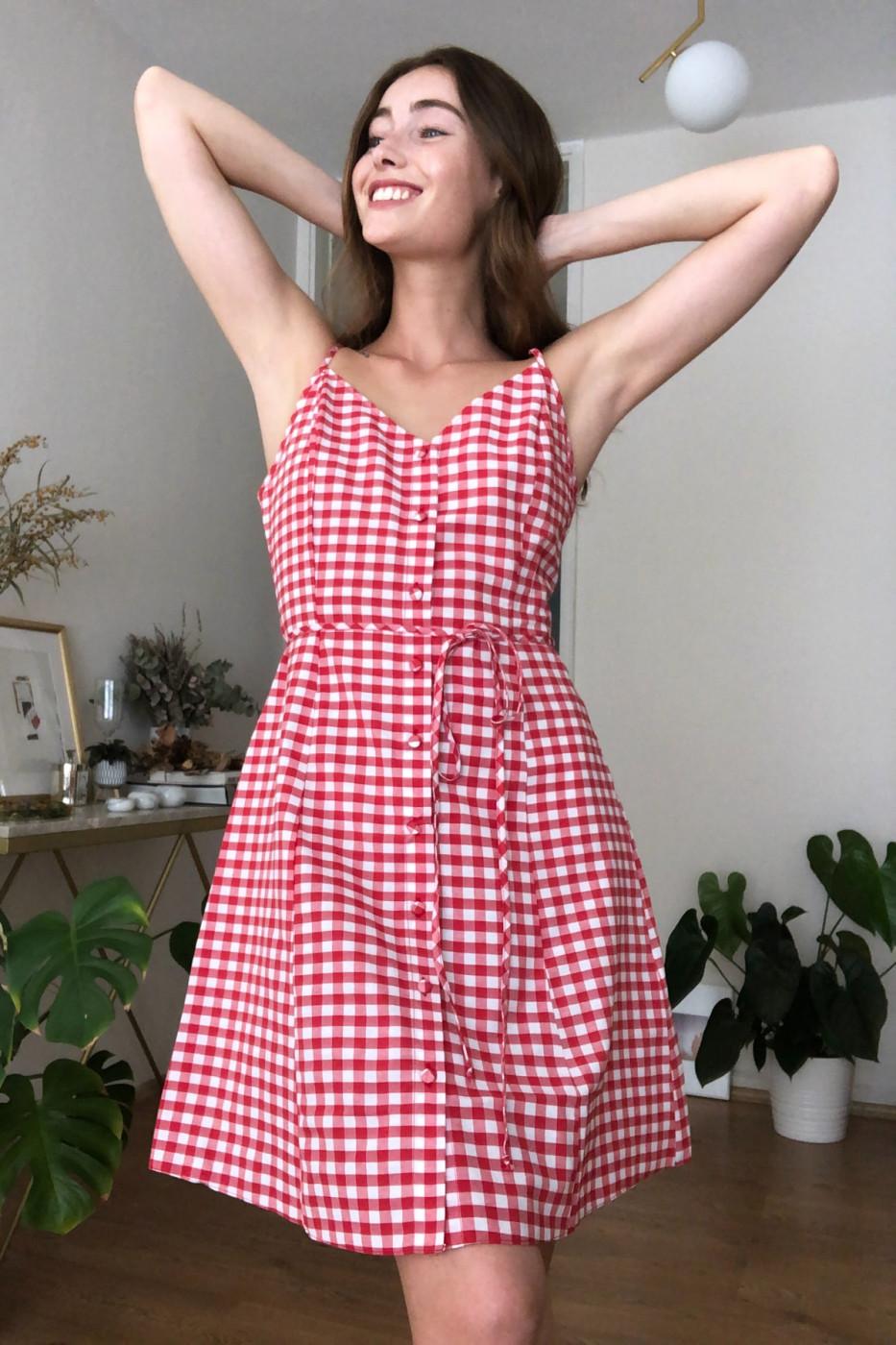 Trendyol Red Belted Carel Dress