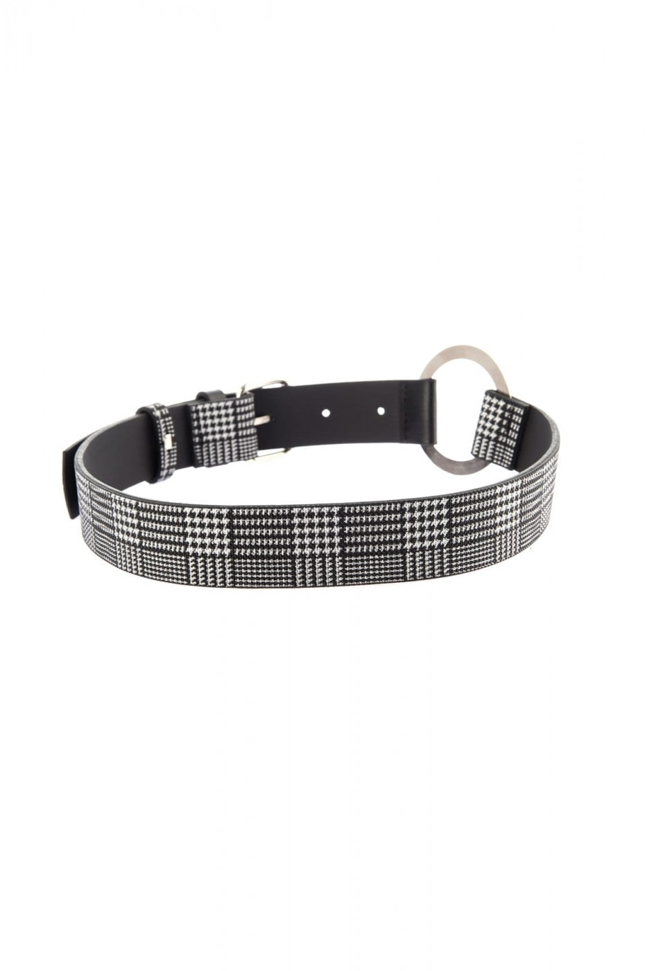 Trendyol Black Checker pattern detailed waist belt