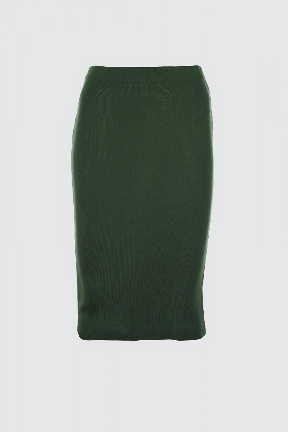 Trendyol Emerald Green Pen Knitwear Skirt