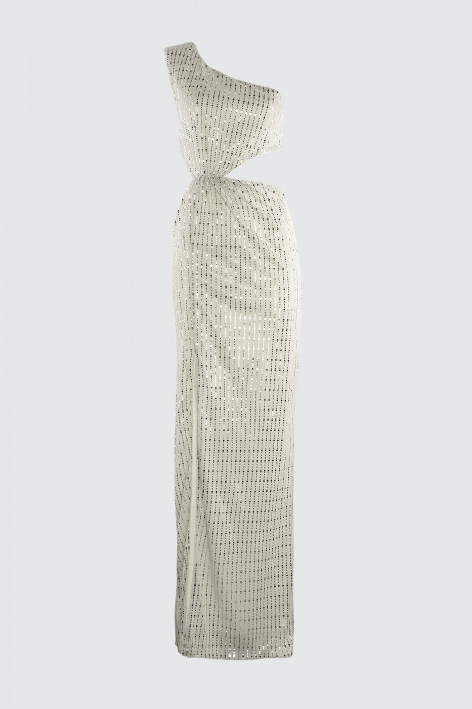 Trendyol Silver Glitter Evening Dress & Graduation Dress