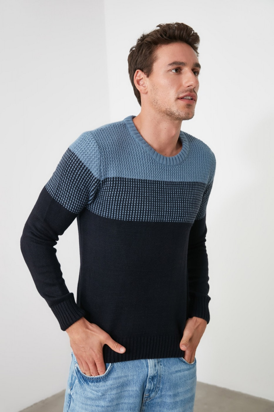 Trendyol Blue Men's Sweater