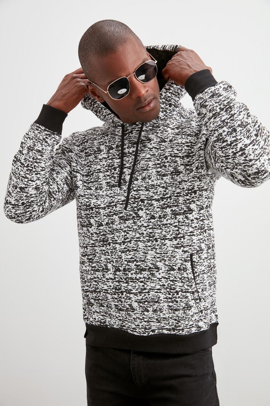 Trendyol Black Printed Sweatshirt