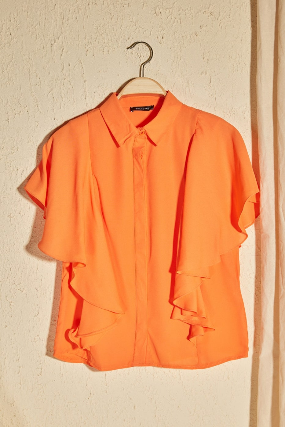 Trendyol Orange Basic Shirt