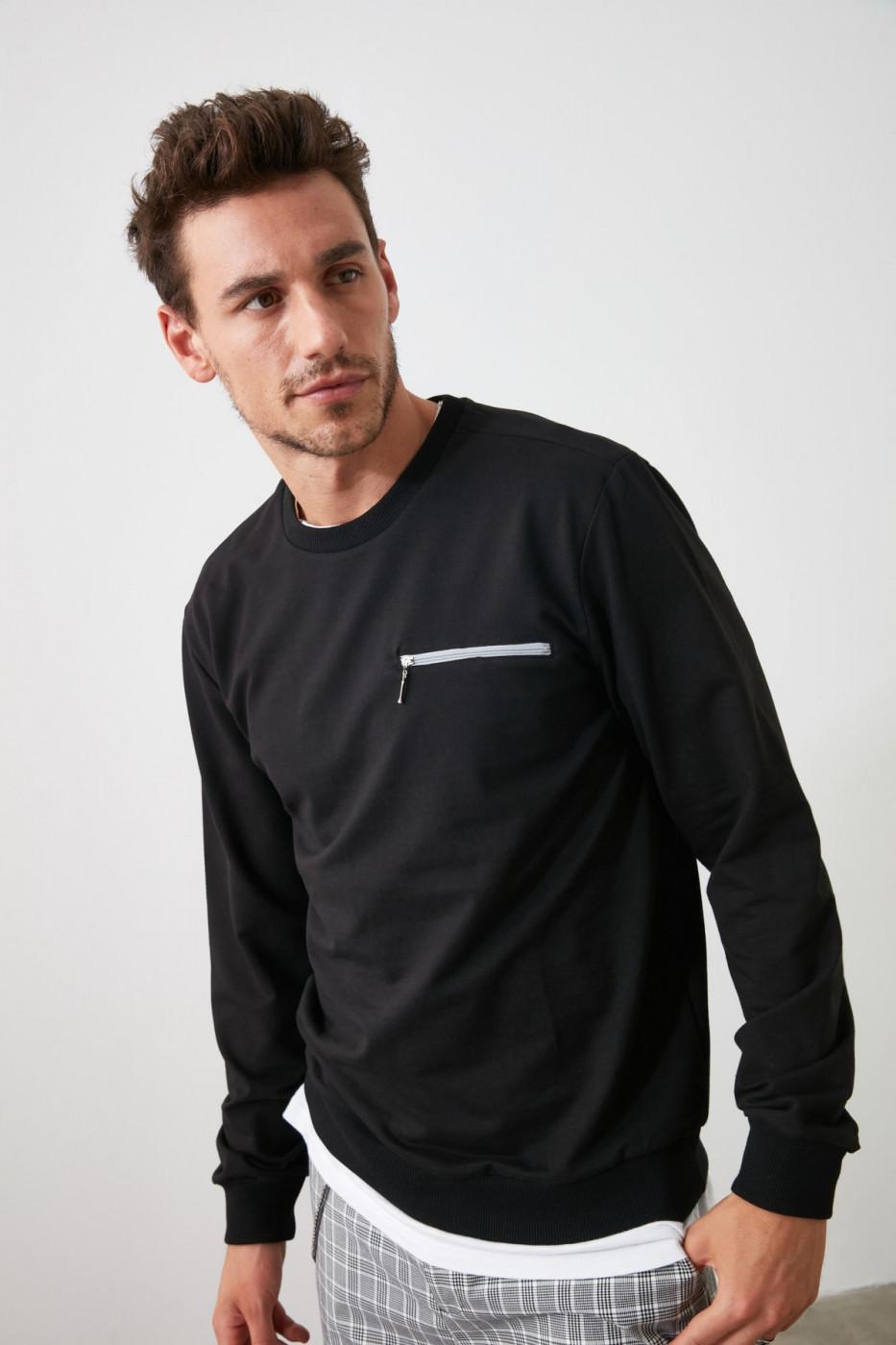 Trendyol Black Men's Sweatshirt