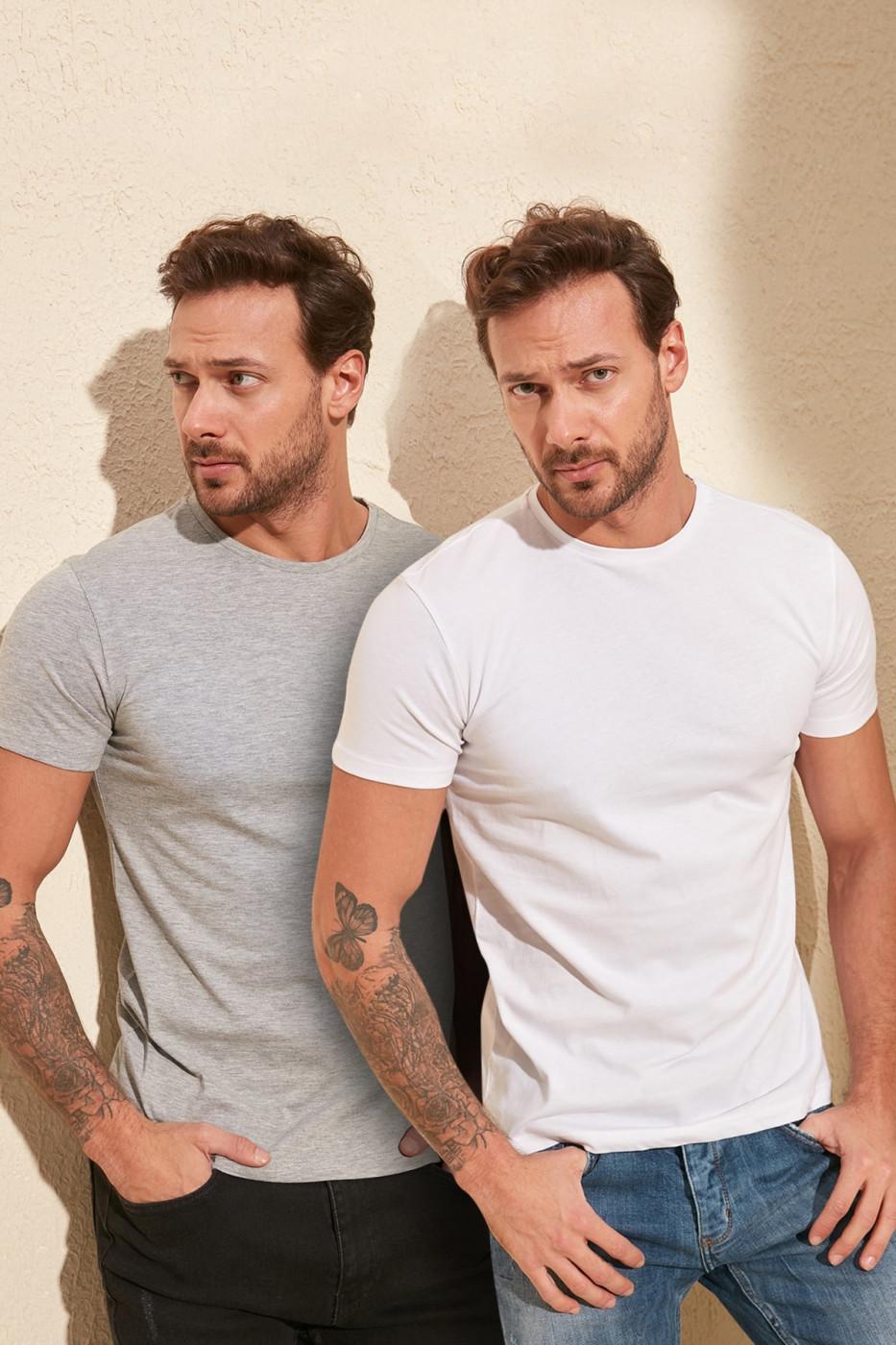 Trendyol Multi-Coloured Men's 2-Pack T-Shirt