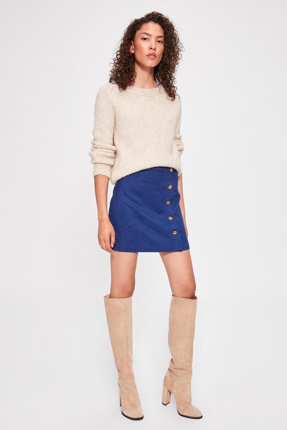 Trendyol Navy Button Detailed Skirt