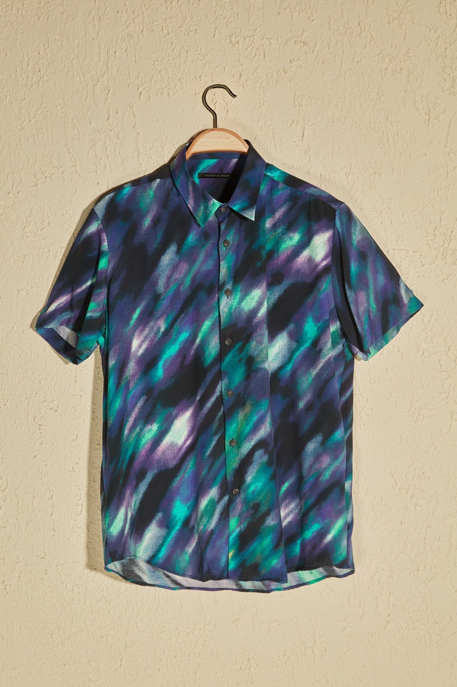 Trendyol Multi-Color Men's PatternEd Short Sleeve Shirt