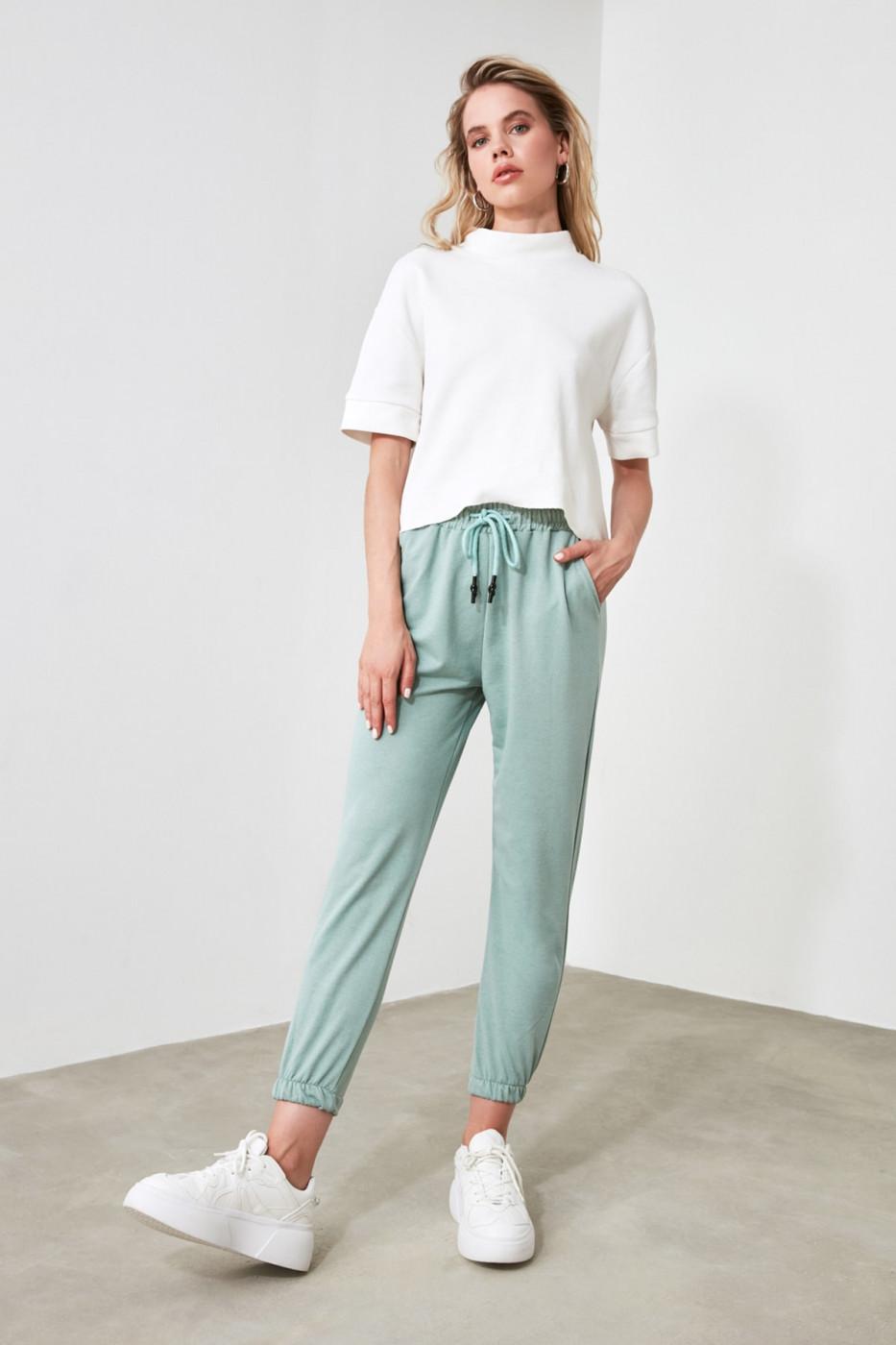 Trendyol Mint Basic Jogger Knitted Tracksuit bottom