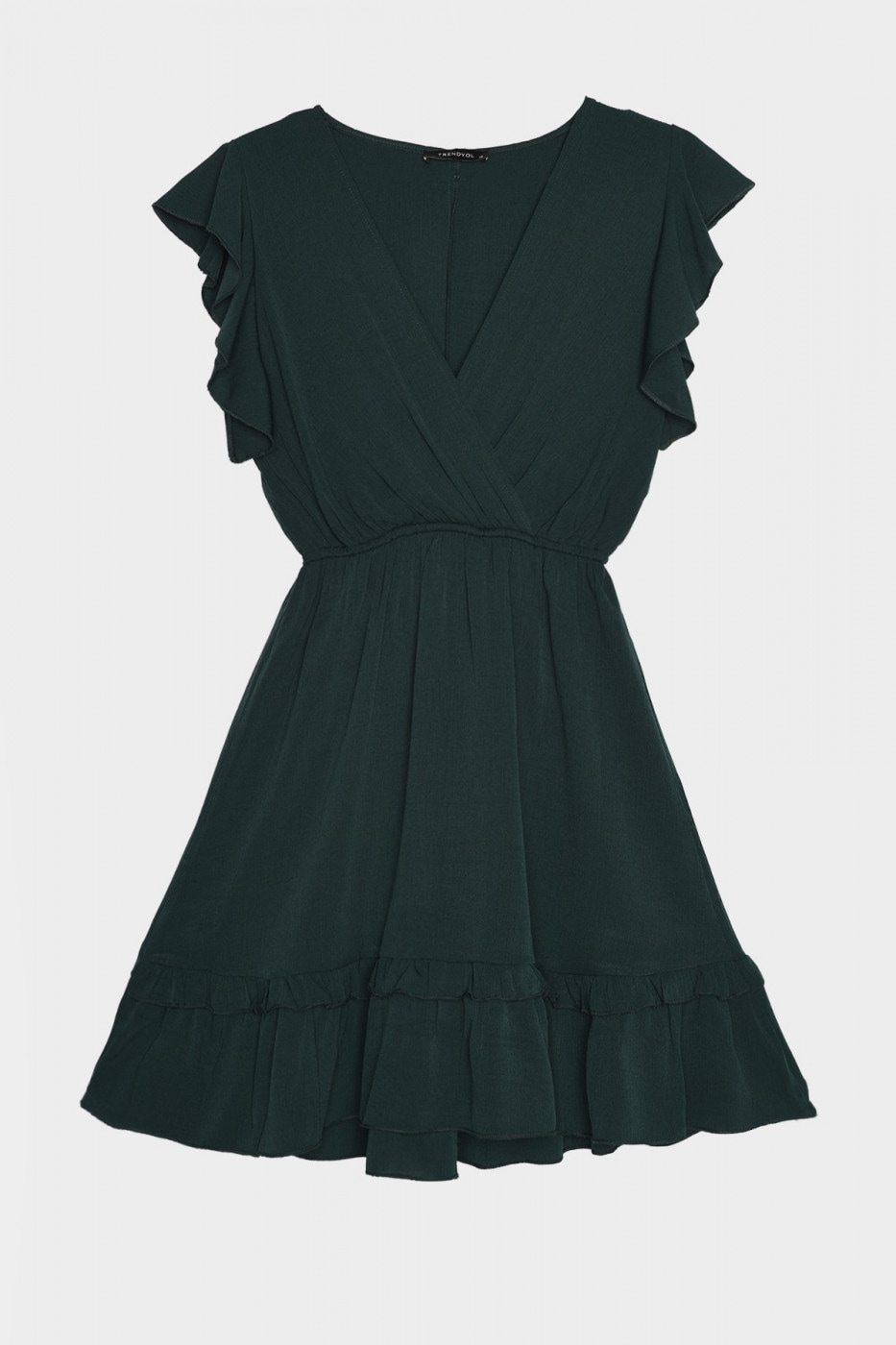 Trendyol Green Cruise Neck Dress