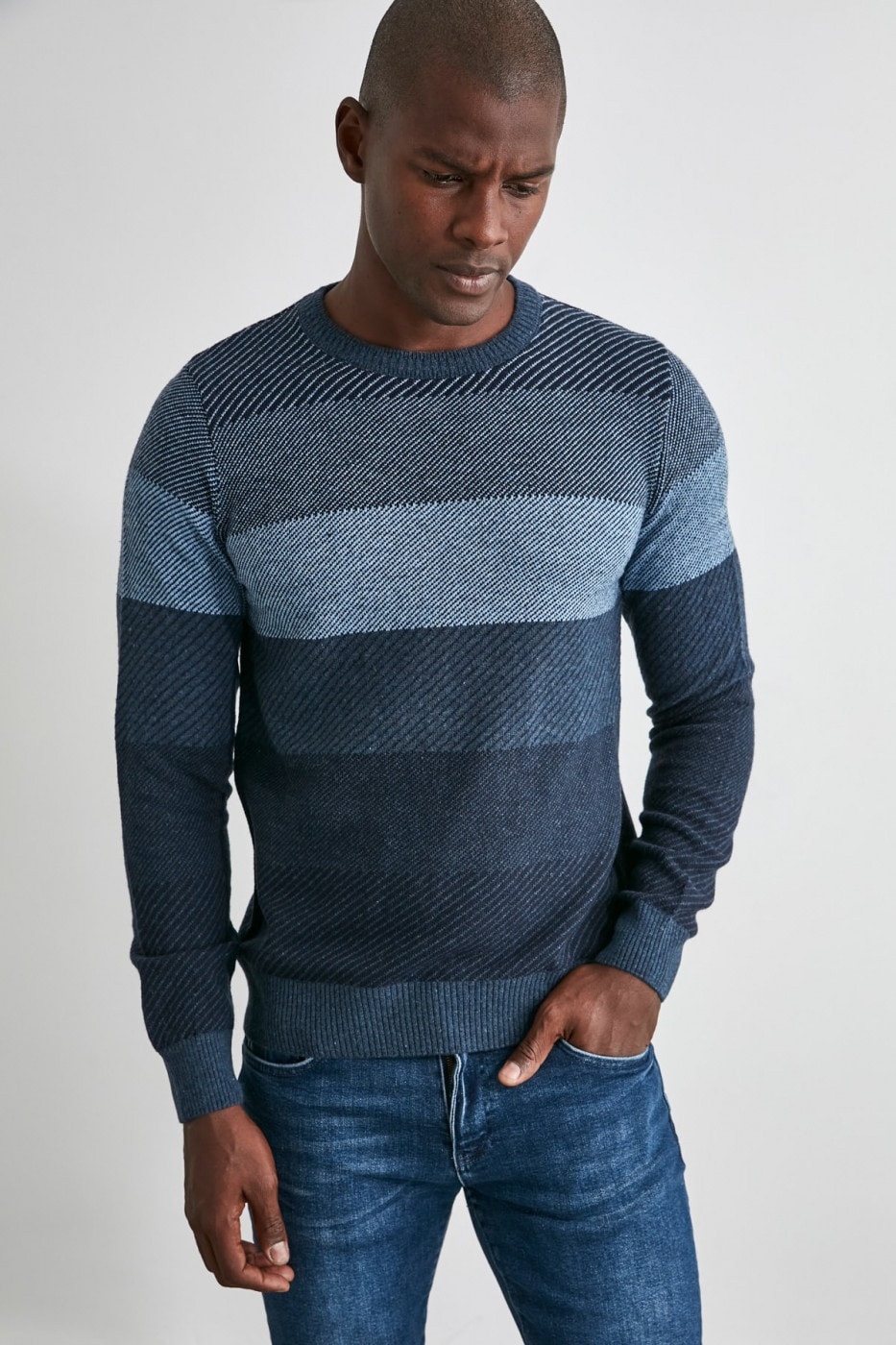 Trendyol Indigo Men's Knitwear Sweater