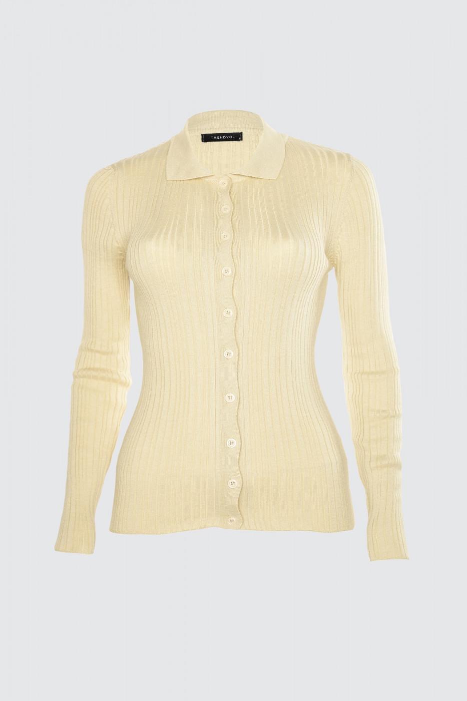 Trendyol Stone Button KnitWear Sweater Cardigan
