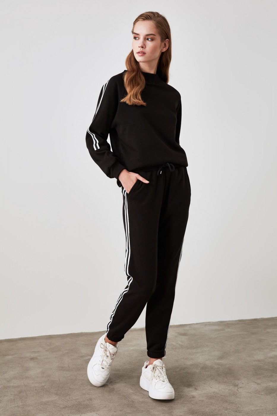Women's tracksuit Trendyol Striped