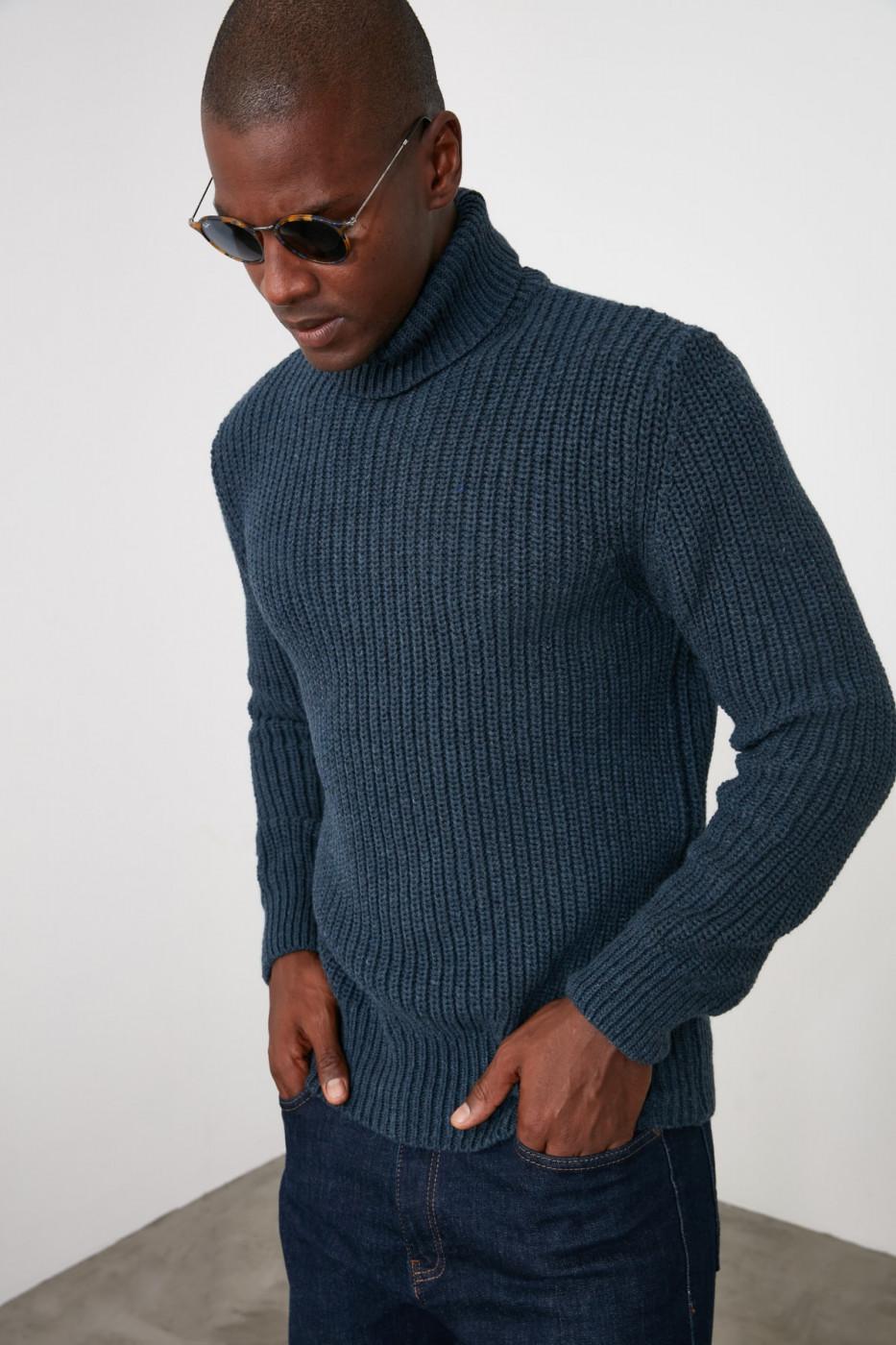 Trendyol Saks Men's Turtleneck Knitwear Sweater