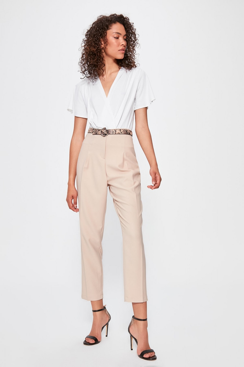 Trendyol Beige Battery Detailed Pants