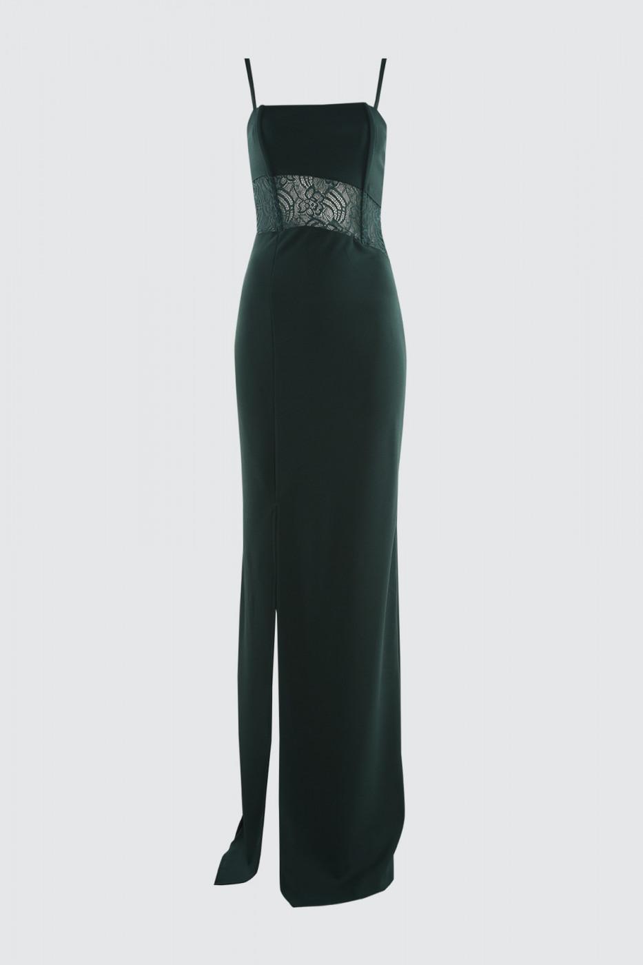 Trendyol Emerald Green Lace Detailed Balenli Evening Dress & Graduation Dress