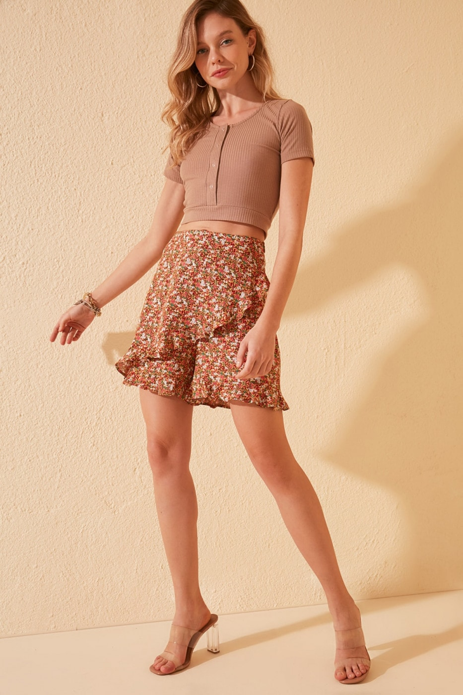 Trendyol Multicolored Floral Patterned Shorts & Bermuda