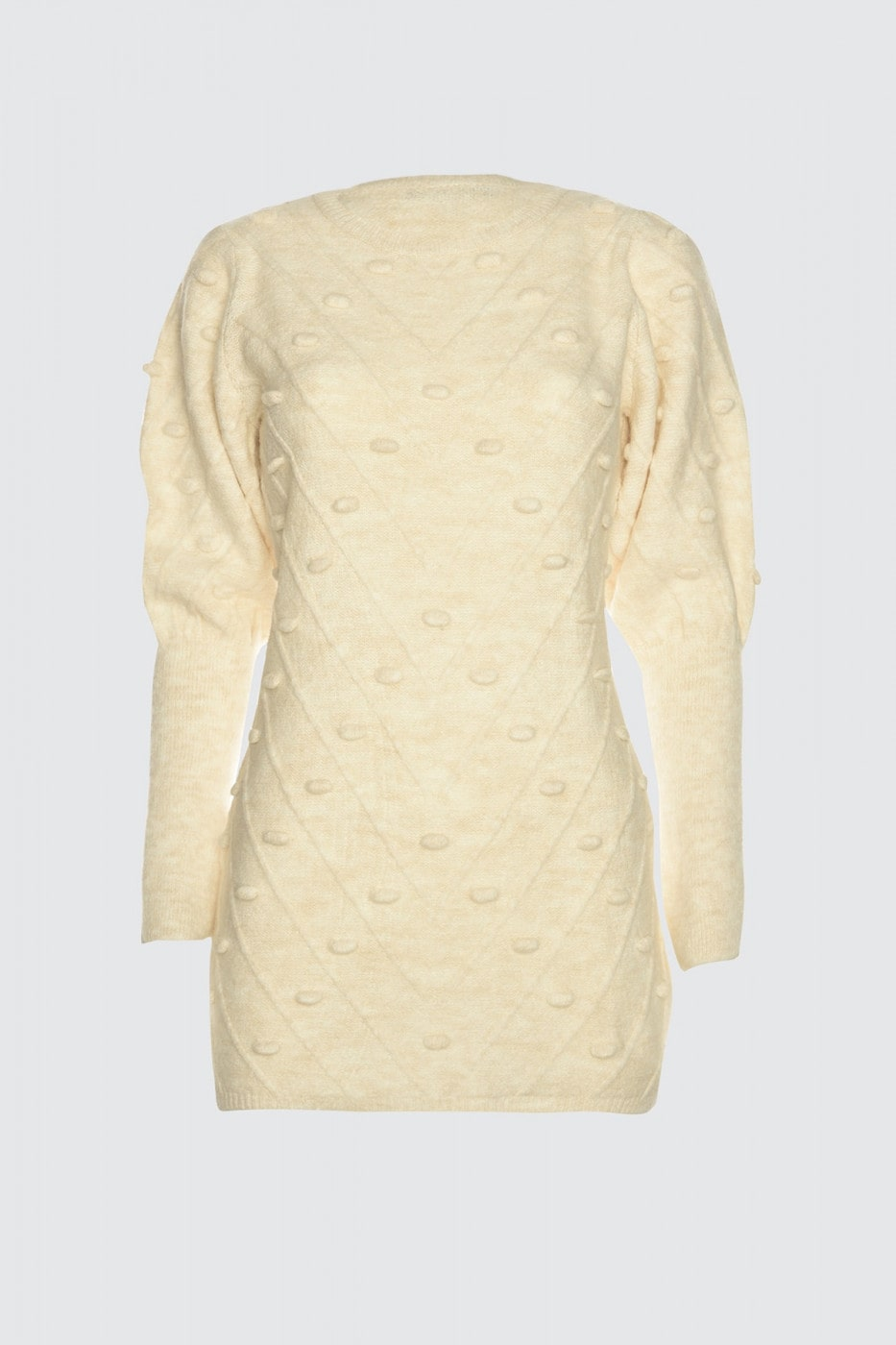 Trendyol Beige Ponpoon Uns Detailed Sweater