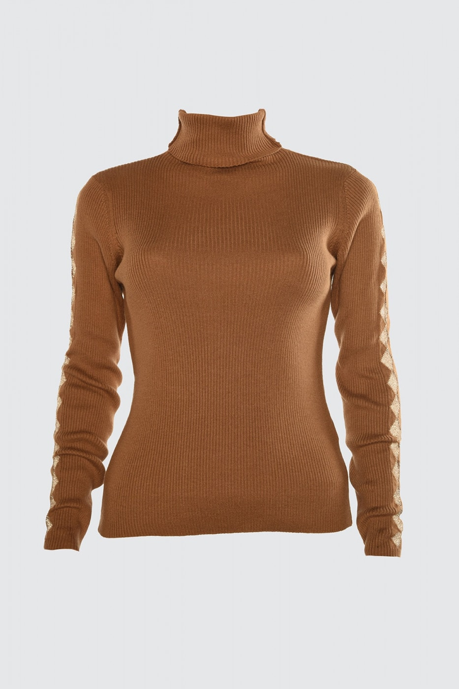 Trendyol Brown Transparent Detailed Knitwear Sweater