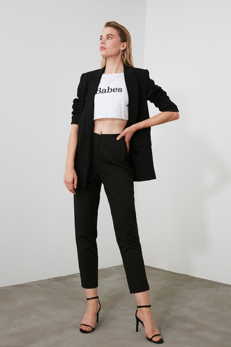 Trendyol Black Pensed Cigarette Pants