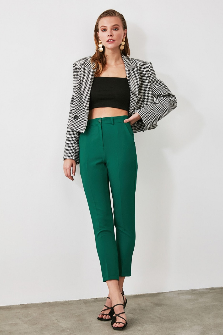 Trendyol Green Cigarette Pants