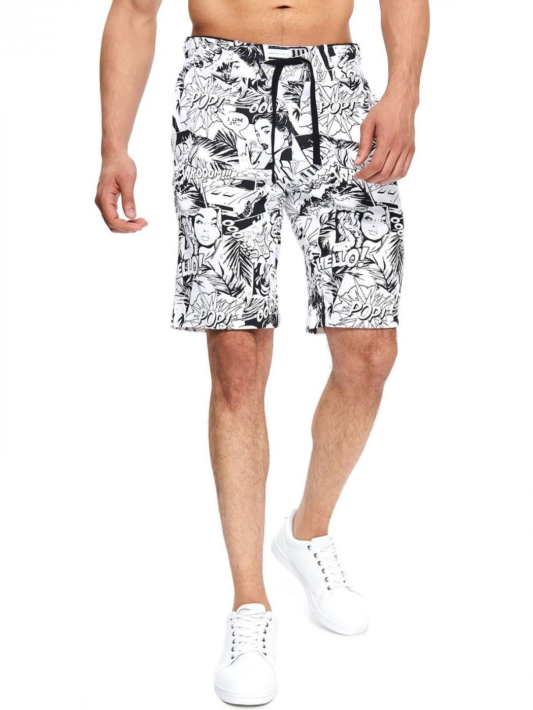 Men's shorts Top Secret Comics patterned