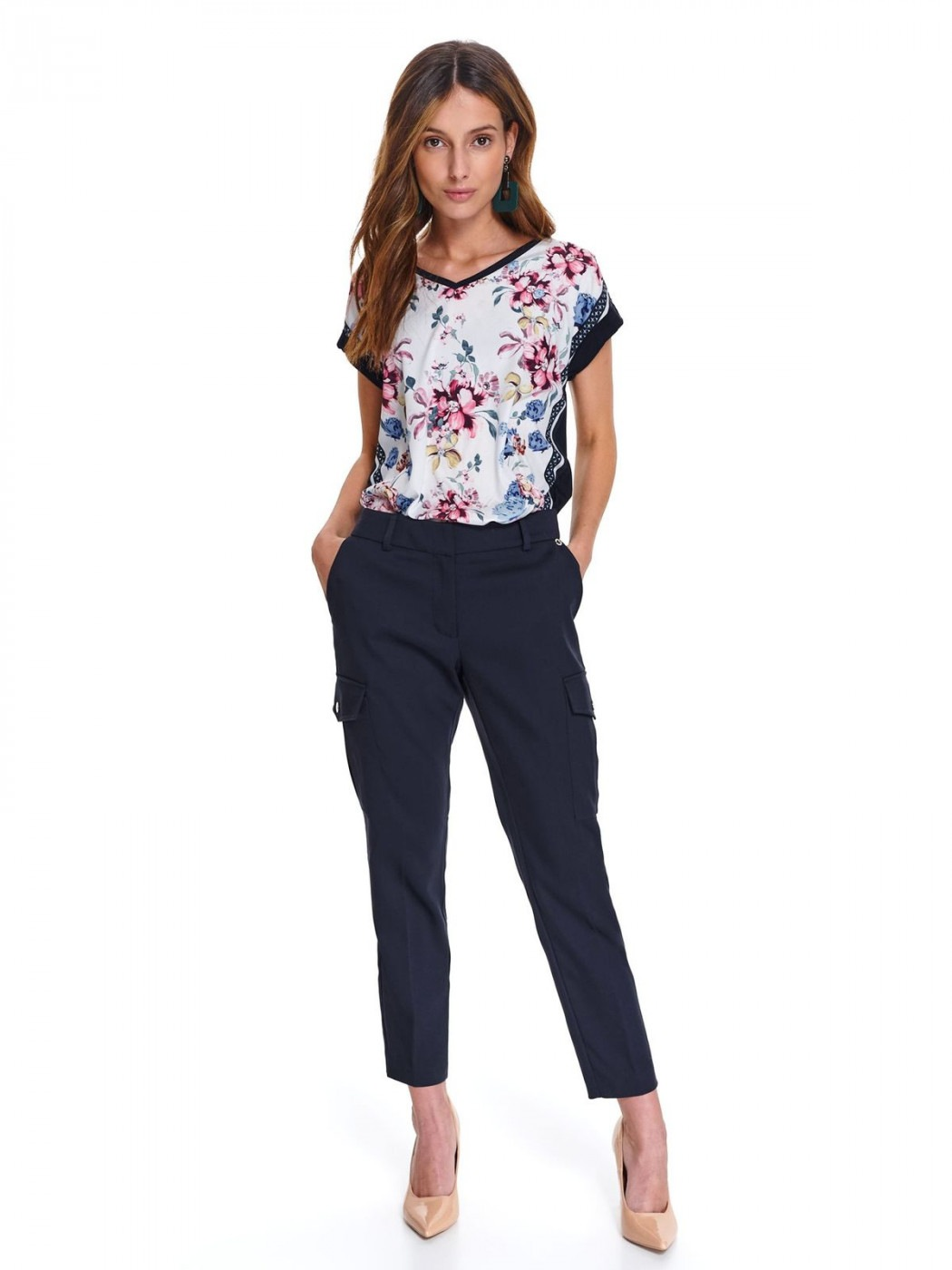 Women's Blouse Top Secret Floral Patterned