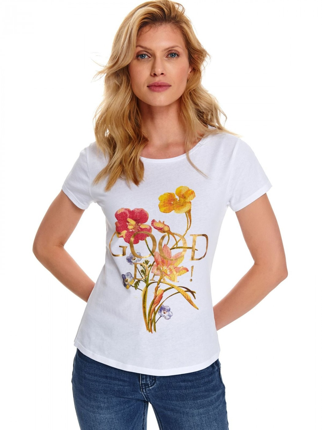 Women's T-shirt Top Secret Floral printed
