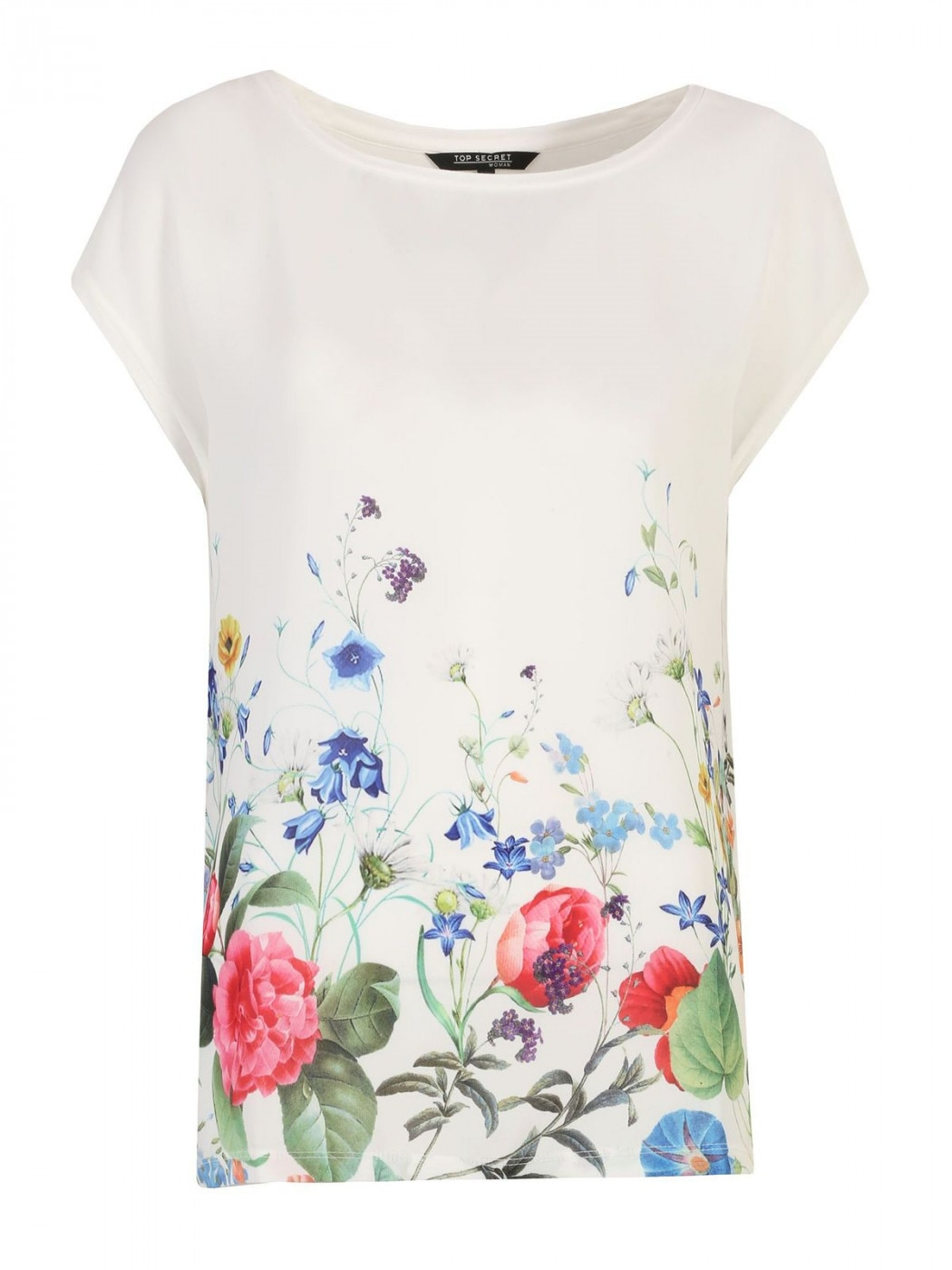 Women's T-shirt Top Secret Floral Patterned