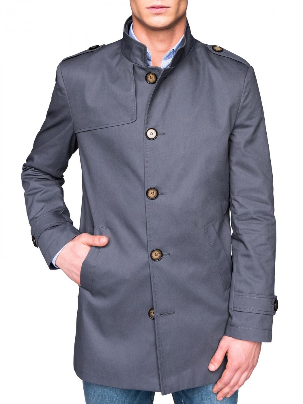 Ombre Clothing Men's mid-season coat C269