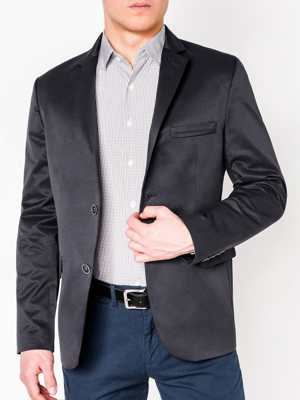 Ombre Clothing Men's elegant blazer jacket M155