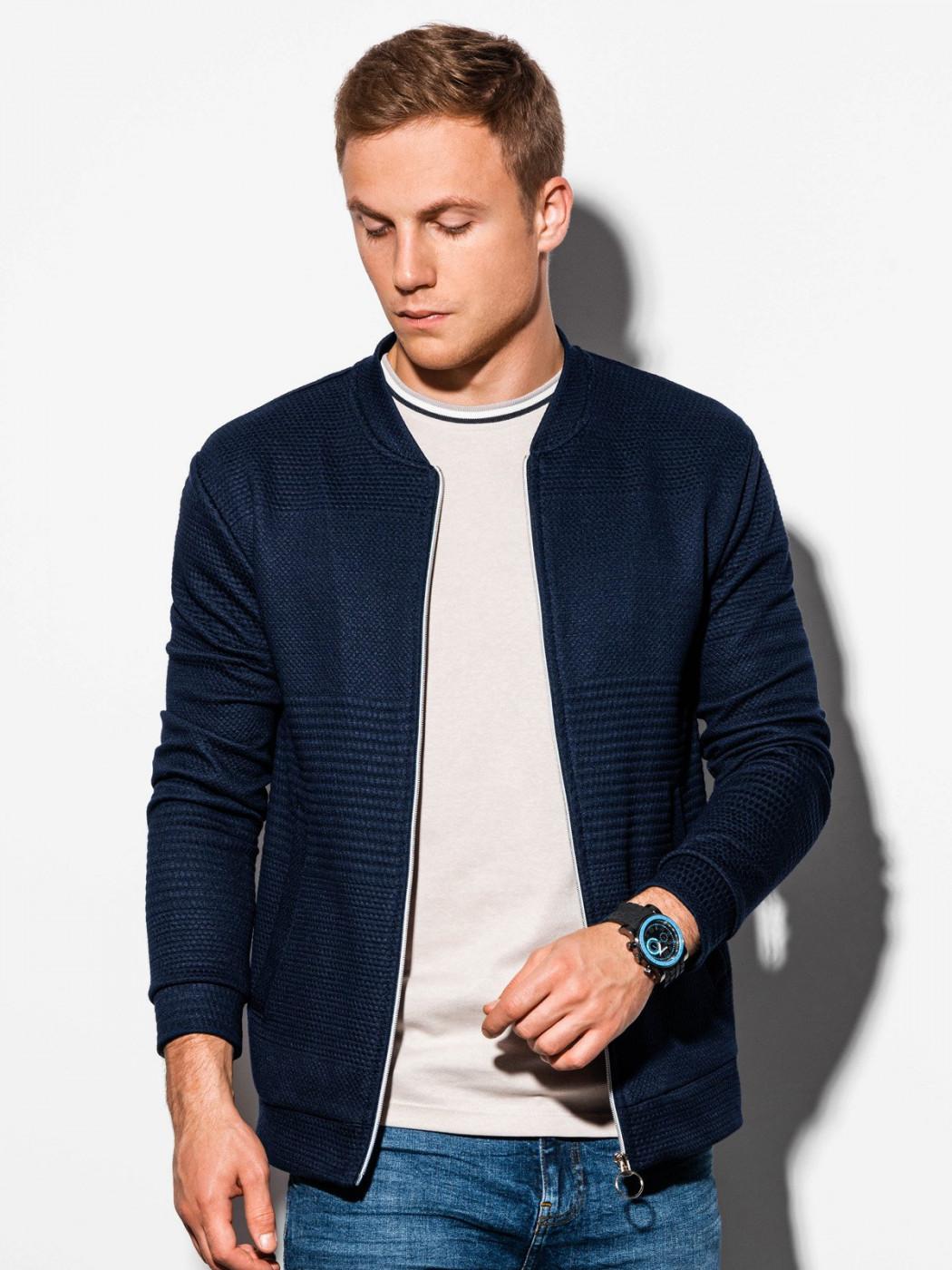 Ombre Clothing Men's zip-up sweatshirt B1095