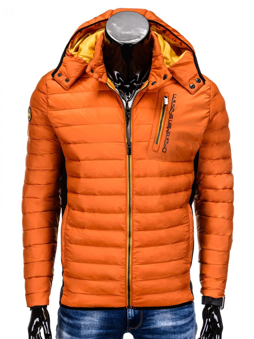 Ombre Clothing MEN'S MID-SEASON QUILTED JACKET C291