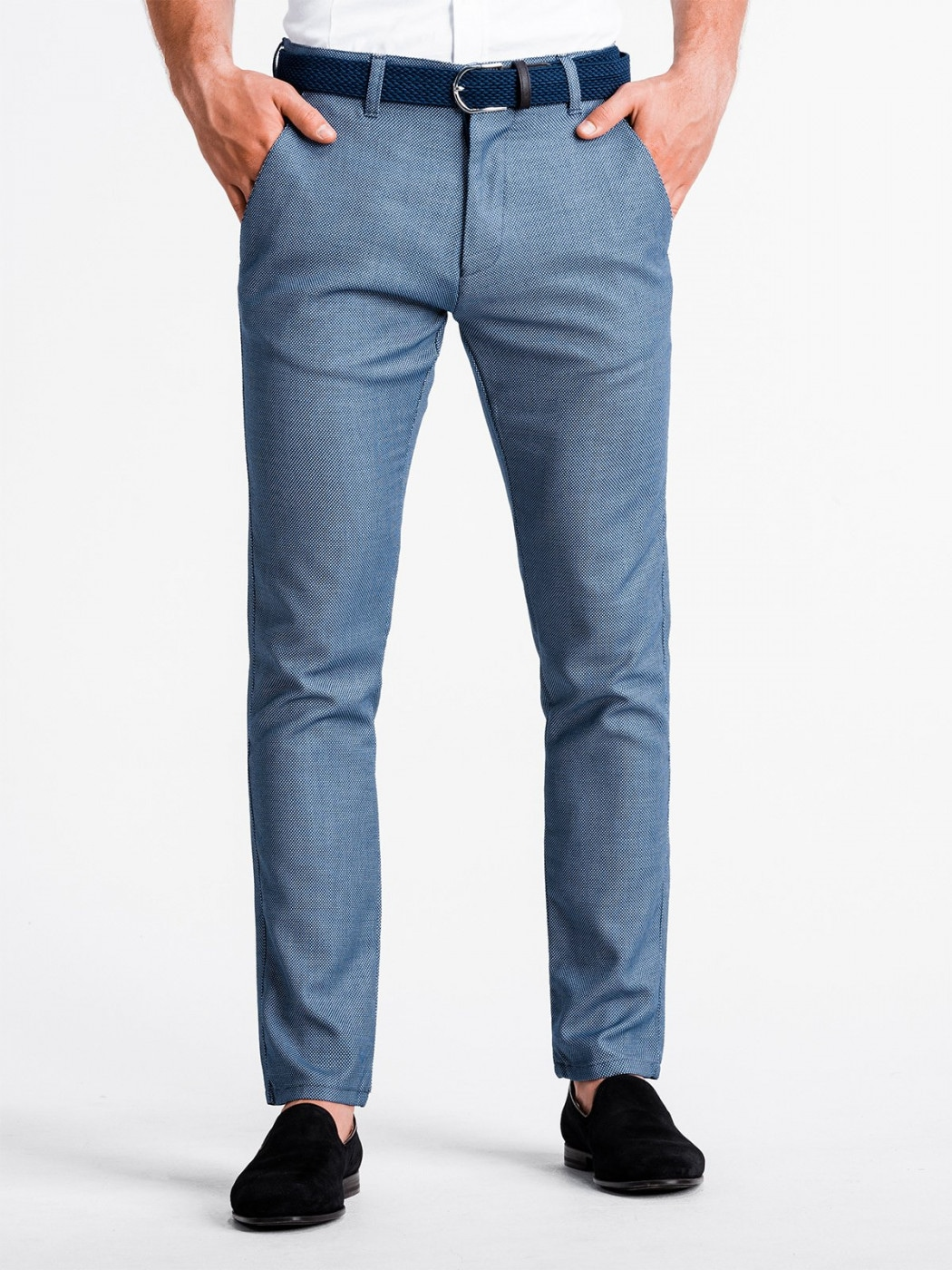 Men's pants chinos P831 - blue