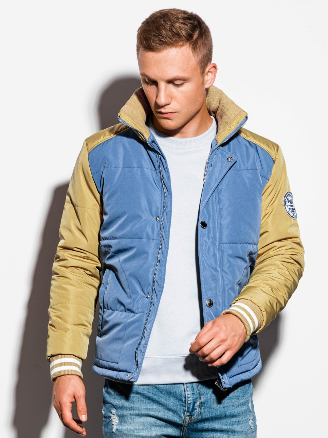 Ombre Clothing Men's mid-season quilted jacket C448