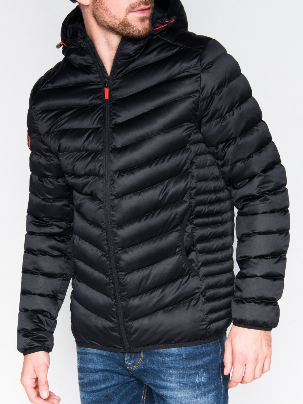 Ombre Clothing Men's winter quilted jacket C368
