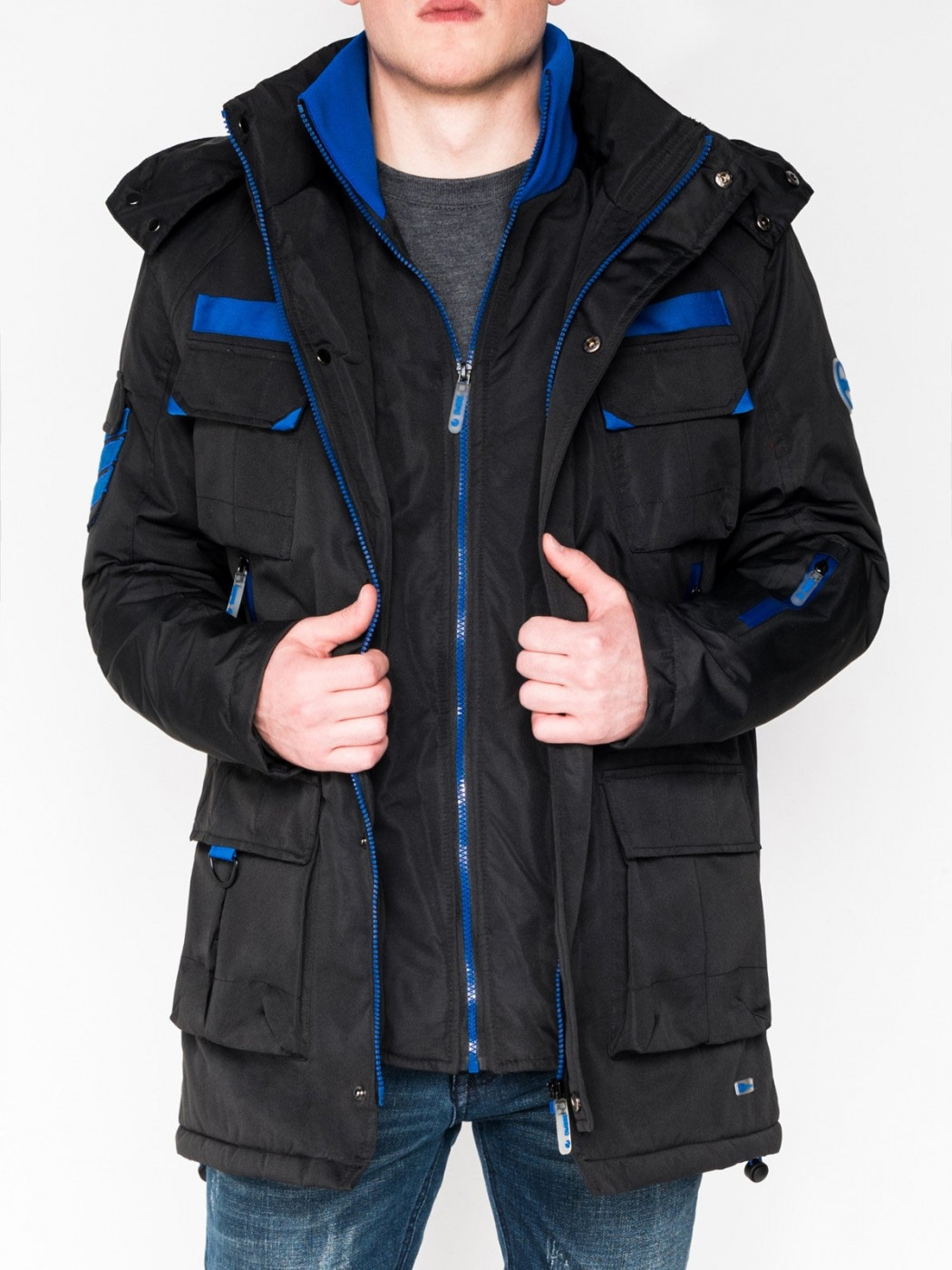 Ombre Clothing Men's winter jacket C379