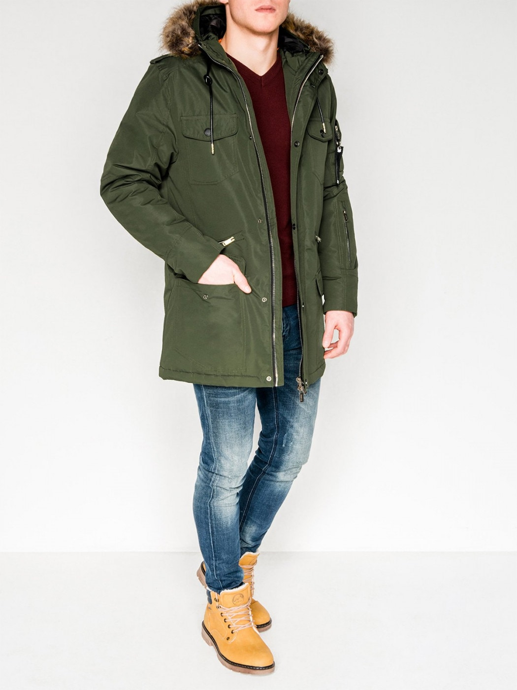 Ombre Clothing Men's winter jacket C382