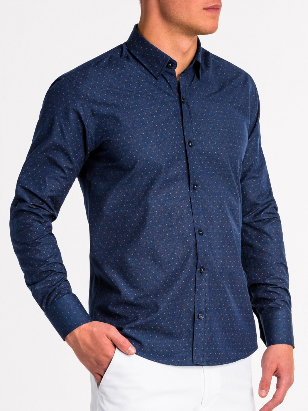 Ombre Clothing Men's elegant shirt with long sleeves K466