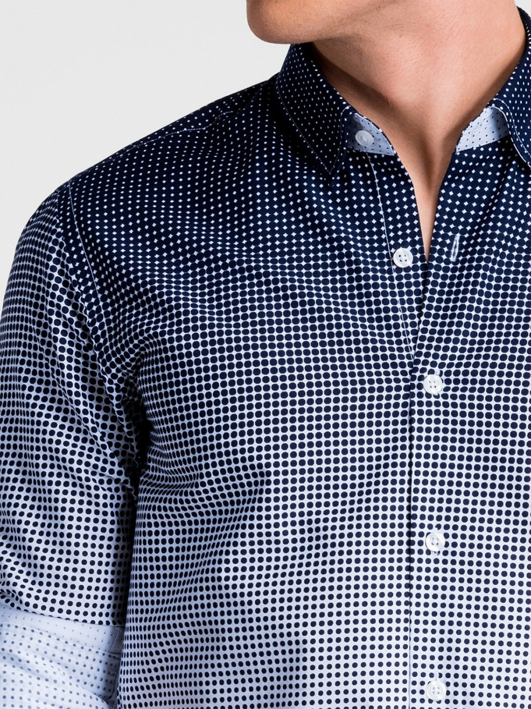 Ombre Clothing Men's shirt with long sleeves K460