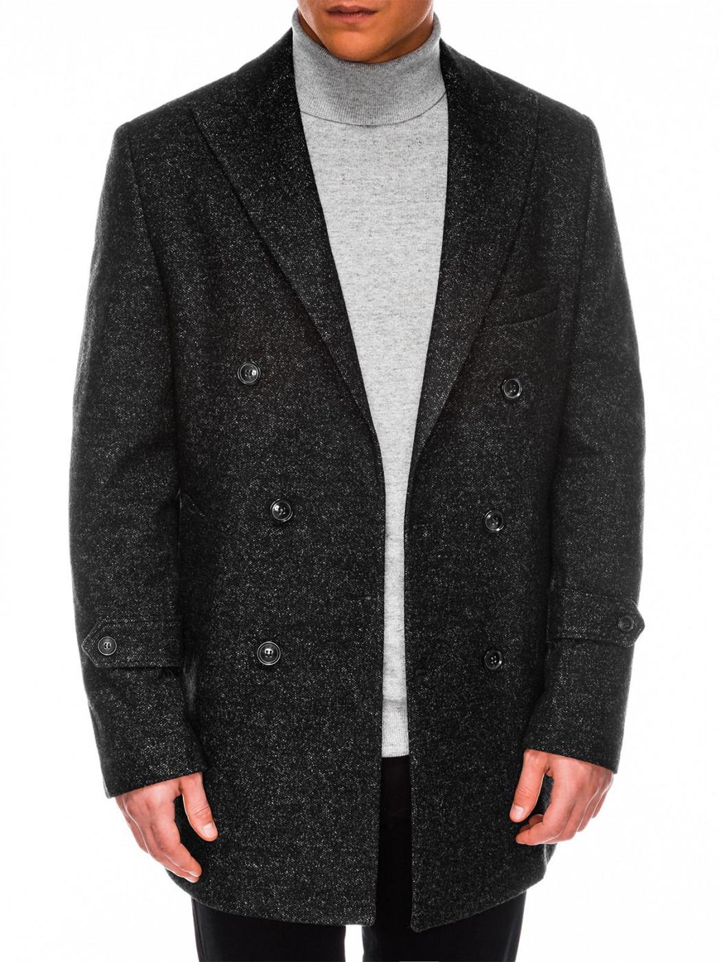 Ombre Clothing Men's oversize coat C429