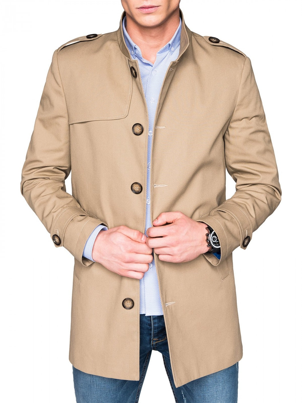 Ombre Clothing MEN'S COAT C269