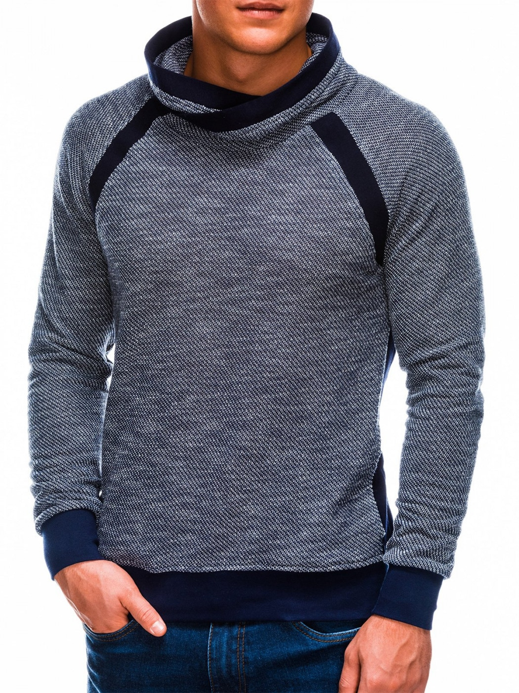 Ombre Clothing Men's stand-up collar sweatshirt B678