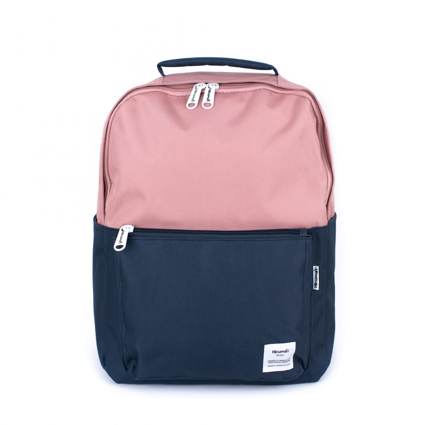 Art Of Polo Unisex's Backpack tr19427 Navy Blue/Pink