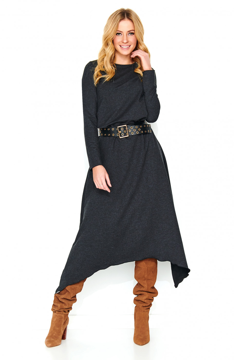 Makadamia Woman's Dress M466  Melange