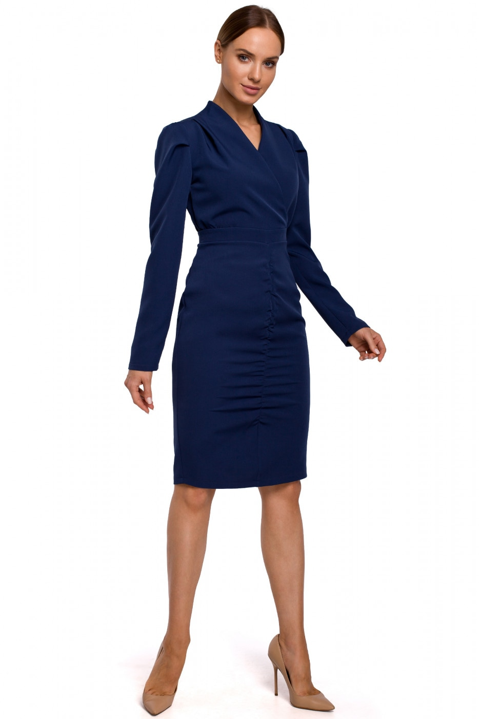 Made Of Emotion Woman's Dress M547 Navy Blue