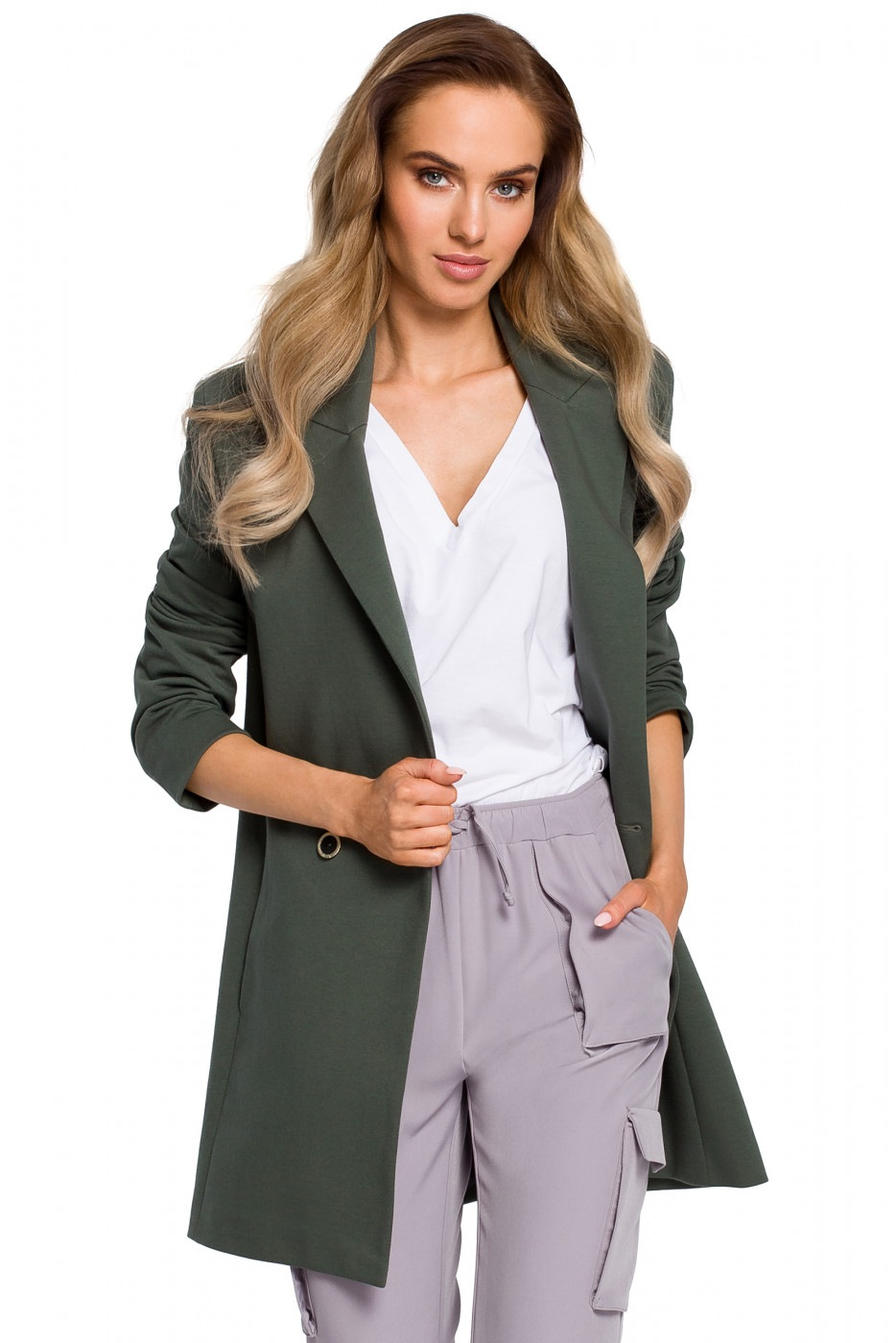 Made Of Emotion Woman's Jacket M429 Military