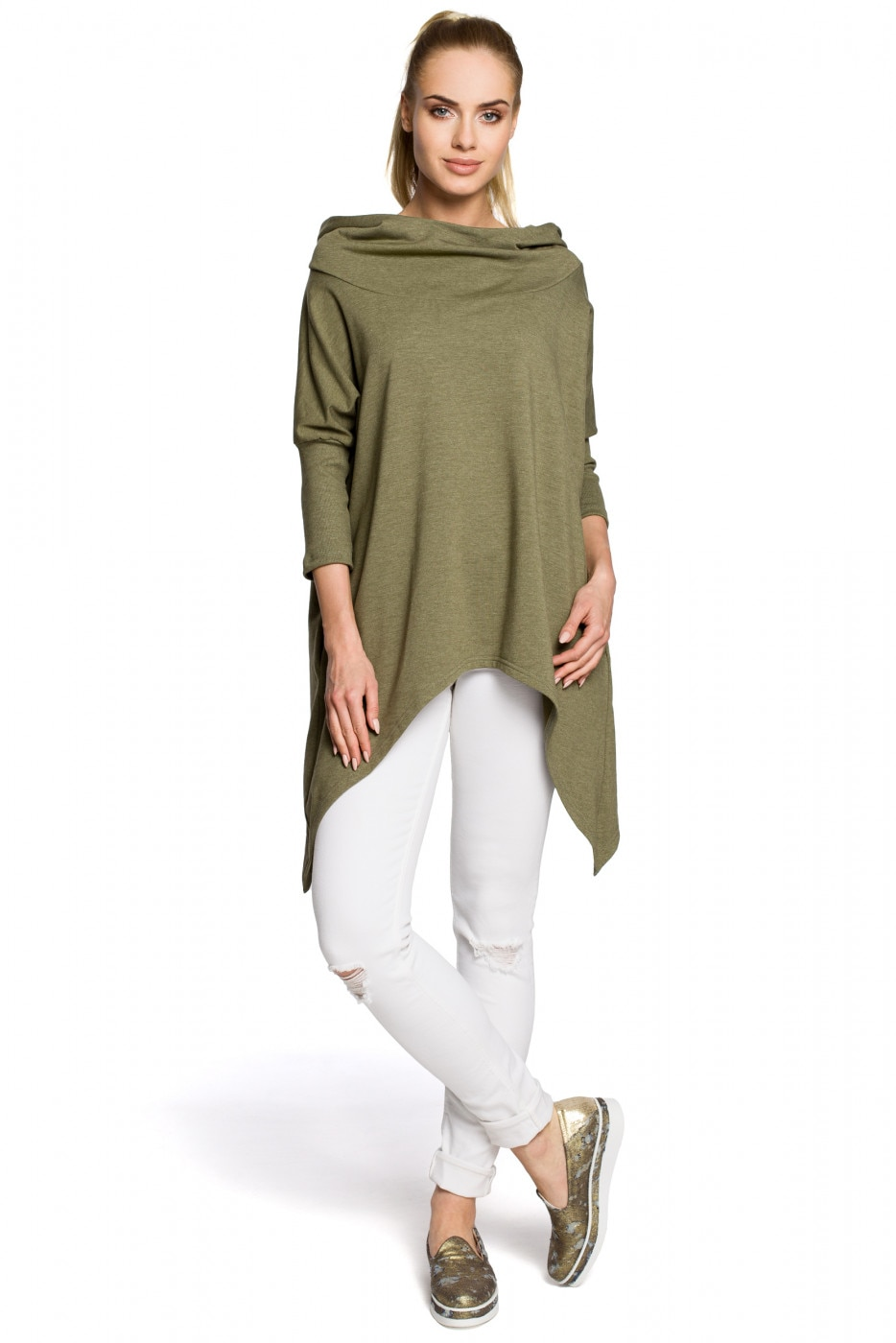 Made Of Emotion Woman's Cape M207 Khaki